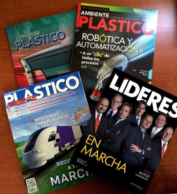 revista ambiente plástico, revista líderes mexicanos